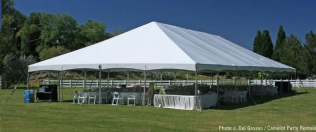 Where to find Tent, 40x60 Frame, Aztec, White in Plattsburgh