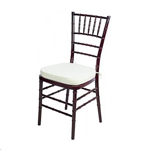 Where to find Chair, Chiavari Mahogany w  Ivory Cushio in Plattsburgh
