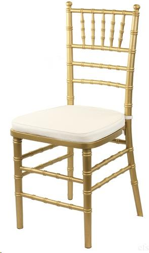 Where to find Chair, Chiavari Gold w  Ivory Cushion in Plattsburgh