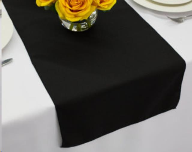 Where to find LINEN, RUNNER, 12 X120 , BLACK in Plattsburgh