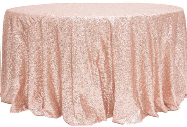 Where to find LINEN, 132  ROUND, GLITZ SEQUIN BLUSH in Plattsburgh