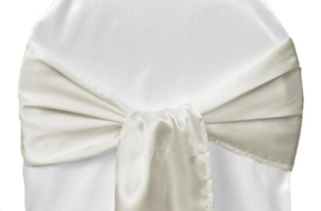 Where to find LINEN, CHAIR TIE, SATIN IVORY in Plattsburgh