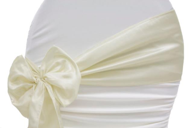 Where to find LINEN, CHAIR TIE, TAFFETA IVORY in Plattsburgh