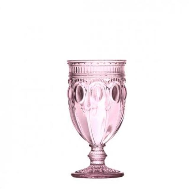 Where to find Glassware, CanCan Footed Pink 12oz  25 in Plattsburgh