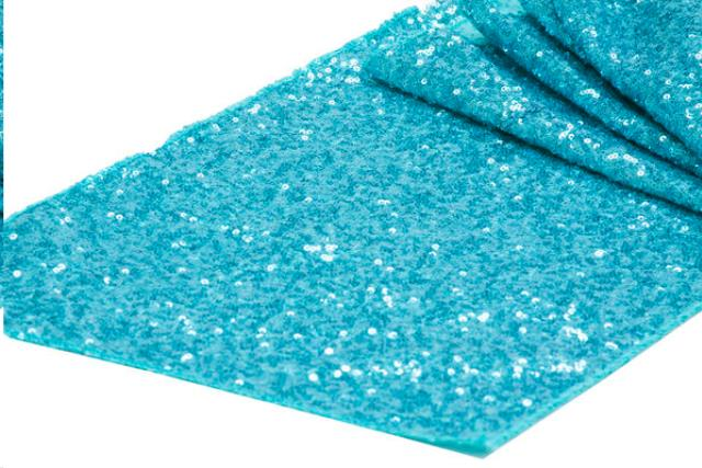Where to find LINEN, RUNNER, GLITZ SEQUIN TURQUOISE in Plattsburgh
