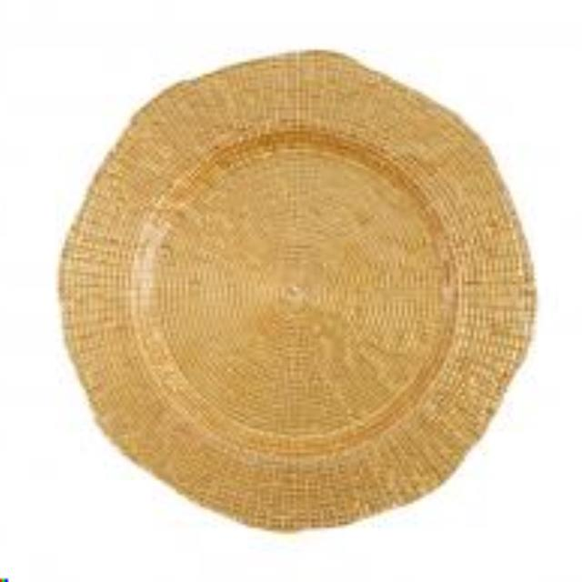 Where to find Dish, Gold Glass Mosaico Charger, 13 in Plattsburgh