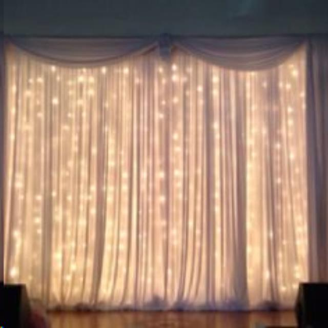 Where to find Curtain Lights, Pipe   Drape 9 x9 in Plattsburgh