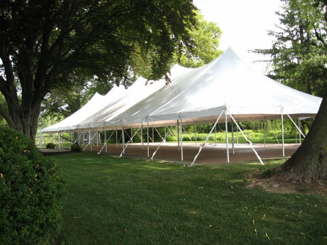 Where to find Tent, 40x120 Pole, Aztec, White in Plattsburgh