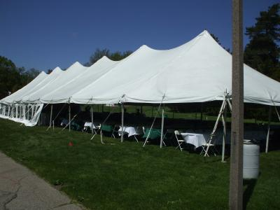 Where to find Tent, 40x140 Pole, Aztec, White in Plattsburgh
