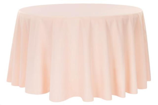 Where to find LINEN, 120  Round Blush Poly in Plattsburgh