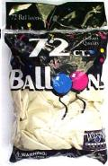 Rental store for BALLOONS 72CT METALLIC WHITE in Plattsburgh NY
