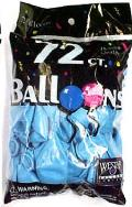 Rental store for BALLOONS 72CT SKY BLUE in Plattsburgh NY