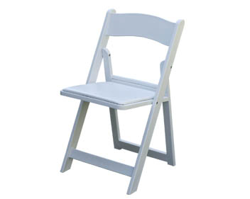 Where to find CHAIR,WHITE RESIN FOLDING in Plattsburgh