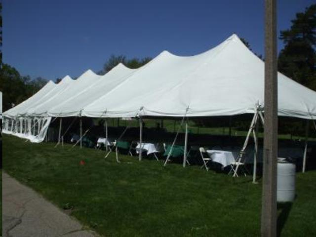 Where to find Tent, 40x160 Pole, Aztec, White in Plattsburgh