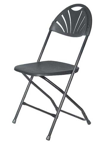 Where to find CHAIR, FOLDING BLACK FANBACK in Plattsburgh