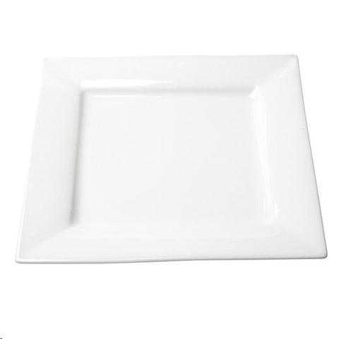 Where to find Dish, White Square 10  Dinner Plate  20 in Plattsburgh